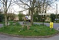 Small roundabout, outside the church, Winfrith Newburgh - geograph.org.uk - 763036.jpg