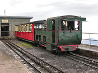 Snowdon Mountain Railway No 3 at summit station.jpg