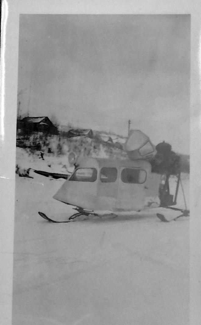Snowmobile Taxi - John Miller 1937 Red Lake