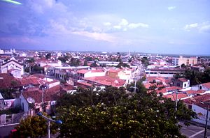 Sobral, Ceará - A general view of the city's downtown area as photographed from the seat of the city government