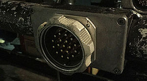 Socapex - Male panelmount 19-pin connector