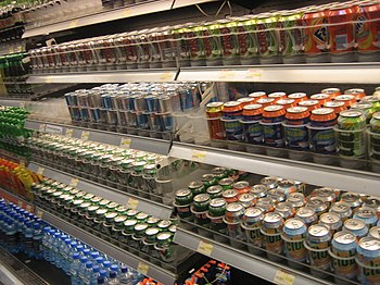 Softdrinks in supermarket