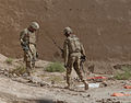 Soldiers from 530th Route Clearance Company search for buried explosives in Spin Boldack, Afghanistan, Aug. 29, 2011 110829-A-FZ921-048.jpg