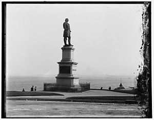 Solomon Juneau - The same statue of Juneau in Milwaukee, c. 1890