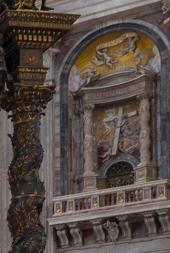 Solomonic columns at St Peters Vatican (cropped)