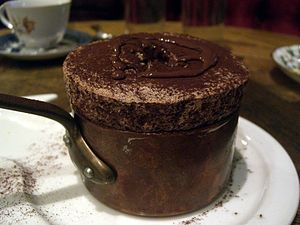 Souffle au chocolate