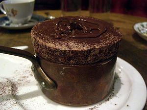 Souffle au chocolate