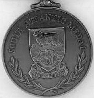 South Atlantic Medal - Image: South Atlantic Medal rev