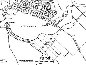 South Perth, Western Australia - 1845 map of South Perth by A Hillman