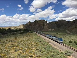 Southwest Chief - Amtrak's Southwest Chief at Devil's Throne in New Mexico