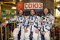 Soyuz TMA-12M crew in front of their spacecraft.jpg