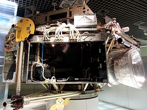 Space Flyer Unit - SFU exhibited in the National Museum of Nature and Science, Tokyo.