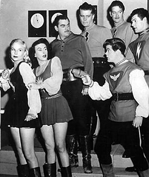 Miniskirt - The Space Patrol cast, early 1950