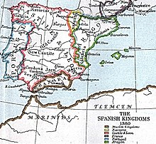 Historical map of Iberia and Western North Africa