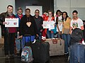 Special Olympics World Winter Games 2017 arrivals Vienna - Dominican Republic 02.jpg