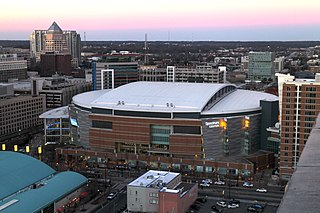 Spectrum Center (arena) entertainment and sports venue located in center city Charlotte, North Carolina