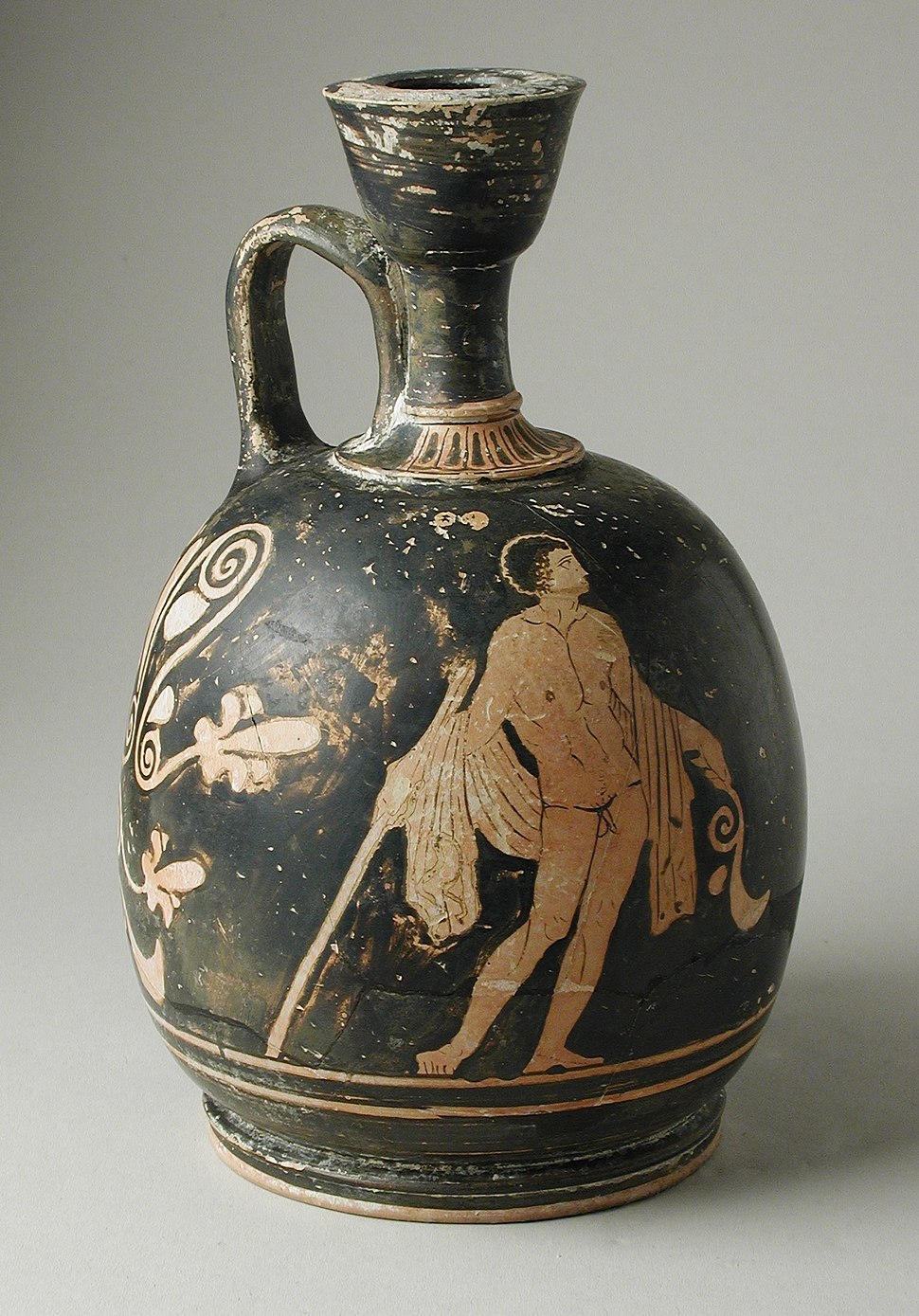 Squat Lekythos with Two Youths LACMA M.80.196.24