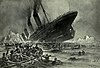 The Titanic's sinking as depicted by artist Willy Stöwer
