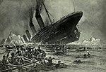 The RMS Titanic sinking on April 15, 1912
