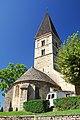 St-Barthélémy, Farges, Chorhaupt und Turm.JPG