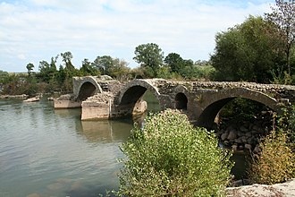 Canton of Pézenas - Remains of the Roman bridge of Saint-Thibéry