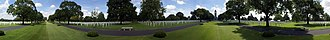 Brittany American Cemetery and Memorial - Image: St. James American Cemetery and Memorial Panorama