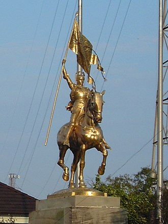 Monument and memorial controversies in the United States - The French Quarter's Joan of Arc statue prior to its defacement.