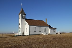 Hungarian Canadians - St. Laszlo Church in Prud'homme.