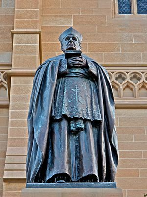 Michael Kelly (bishop) - A statue of Archbishop Michael Kelly by Bertram Mackennal at St Mary's Cathedral