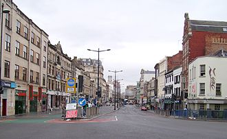 Cardiff city centre - St. Mary Street south end