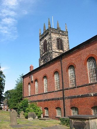 Congleton - St Peter's Church, Congleton, from the southeast
