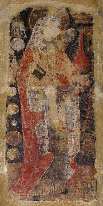Zita - A Mediaeval wall painting Saint Zita (Horley, Oxfordshire)