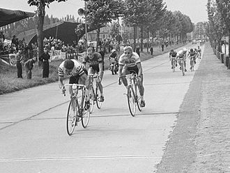 1966 Tour de France - The finish of the stage two in Tournai, Belgium, won by Guido Reybrouck