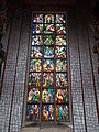 Stained glass window. St. Stephen's mausoleum. Medieval Ruin Garden - National Memorial. Listed ID 3842. - 5, Várkörút, Koronázó Squre, Belváros, Székesfehérvár, Fejér county, Hungary.JPG