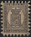 Stamp of Finland - 1870 - Colnect 586088 - 1 - Coat of Arms Type m 60 Markka Penni Values.jpeg
