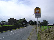 Entrance to Main Street, Stanbury