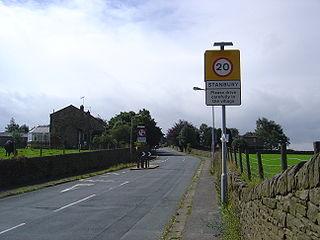 Stanbury Village in West Yorkshire, England