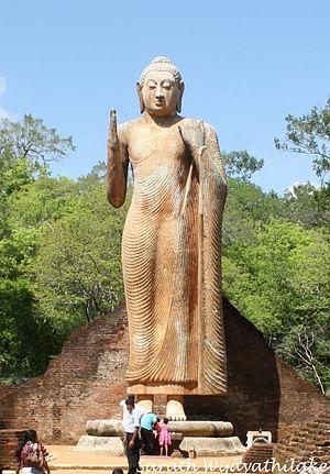 Maligawila Buddha statue - Image: Standing Buddha Statue Maligawila
