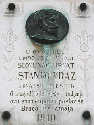 Stanko Vraz - Memorial to Stanko Vraz in Zagreb