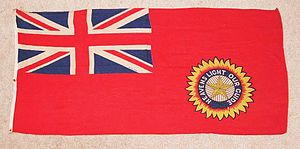 Star of India (flag) - Photograph of the Red Ensign, used to represent British India in international organisations
