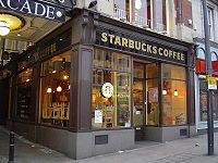 A Starbucks coffee shop in Leeds, United Kingdom