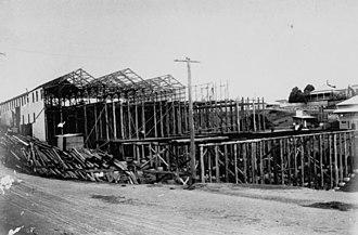 Paddington tram depot fire - A photo from 1915 shows the depot under construction