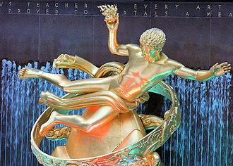 Paul Manship -  Prometheus at Rockefeller Center