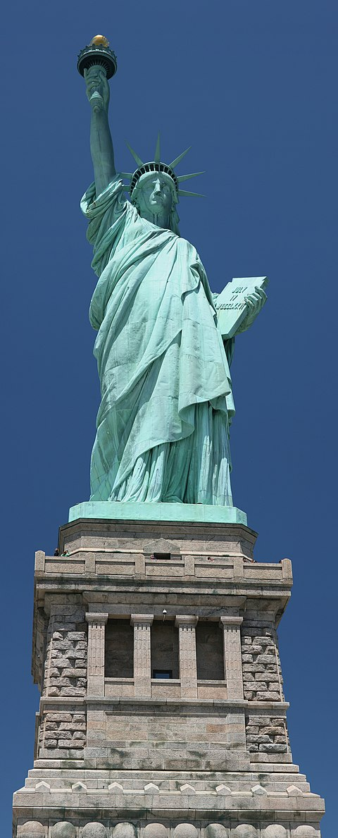 As viewed from the ground on Liberty Island Statue of Liberty frontal 2.jpg