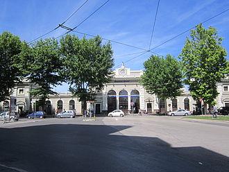 Rimini railway station - The passenger building.
