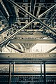 Steel structure of Andreevsky railroad bridge in Moscow (2014).jpg