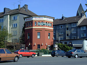 Wuppertal-Steinbeck station - Former station watertower, now a restaurant