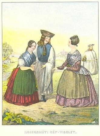 Kunság - Image: Steinrucker Leopold Kecskeméti népviseletek 1845