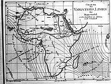 Von Adolf Stieler gezeichnete Karte, erschienen in den Allgemeinen Geographische Ephemeriden (Quelle: Wikimedia)