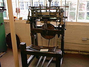 Stocking frame - Stocking frame at Ruddington Framework Knitters' Museum